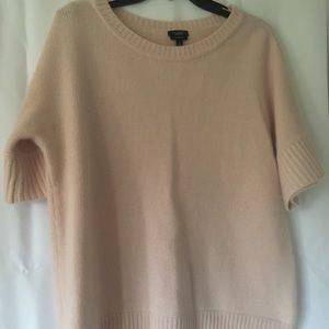 Talbots Cashmere soft pink short-sleeve sweater